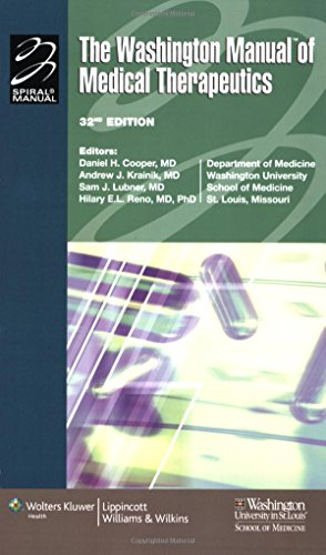 9780781765176: The Washington Manual® of Medical Therapeutics (Lippincott Manual Series (Formerly known as the Spiral Manual Series))