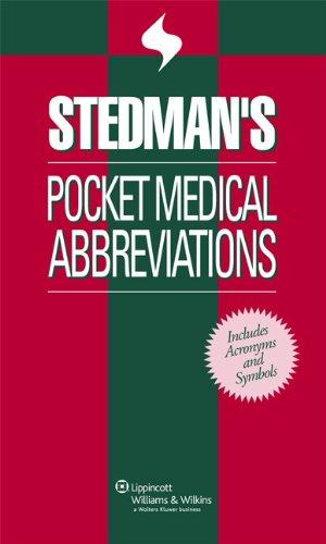 9780781766944 Stedmans Pocket Medical Abbreviations Abebooks
