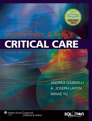 9780781768696: Civetta, Taylor & Kirby's Critical Care