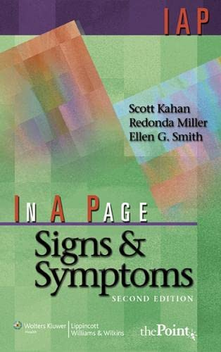 9780781770439: In A Page Signs & Symptoms (In a Page Series)