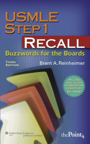 9780781770705: USMLE Step 1 Recall: Buzzwords for the Boards (Recall Series)