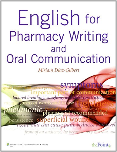 9780781774321: English for Pharmacy Writing and Oral Communication [With Online Access]