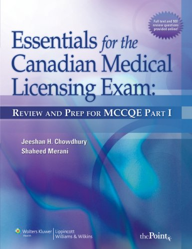 9780781776509: Essentials for the Canadian Medical Licensing Exam: Review and Prep for MCCQE Pt. 1