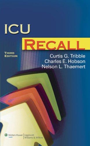 9780781776530: ICU Recall (Recall Series)