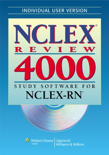 9780781777902: NCLEX® Review 4000: Study Software for NCLEX-RN® (Individual Version) (NCLEX 4000)