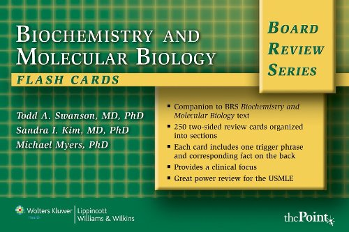 9780781779029: Biochemistry and Molecular Biology Flash Cards (Board Review Series)