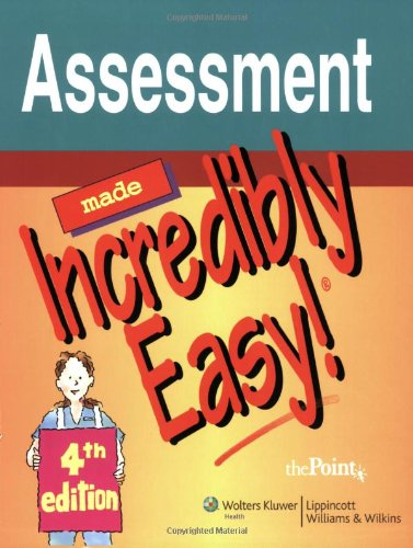 9780781779104: Assessment Made Incredibly Easy! (Incredibly Easy! Series®)