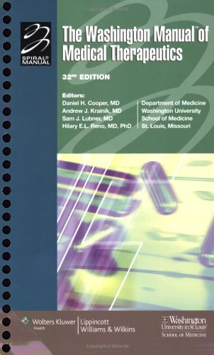 9780781781251: The Washington Manual of Medical Therapeutics, 32nd edition (Spiral Manual Series)