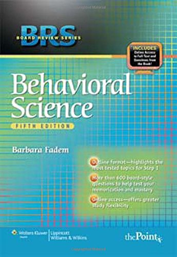9780781782579: BRS Behavioral Science (Board Review Series)