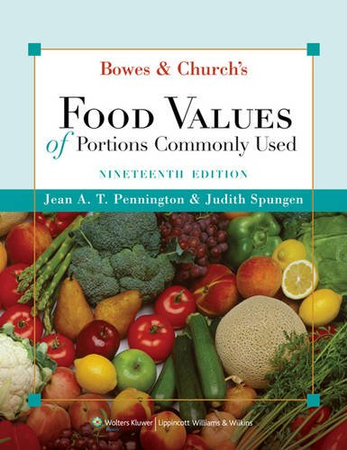9780781782890: Bowes and Church's Food Values of Portions Commonly Used, Nineteenth Edition, Text and CD-ROM Package