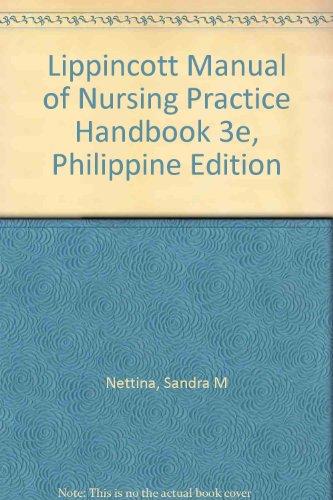 9780781783231: Lippincott Manual of Nursing Practice Handbook