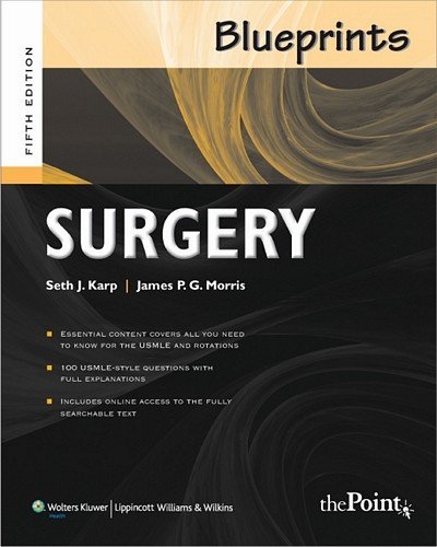 Blueprints Surgery 5Th Edition: Seth Karp