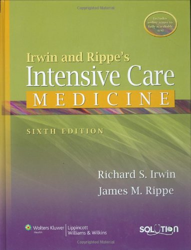 9780781791533: Irwin and Rippe's Intensive Care Medicine