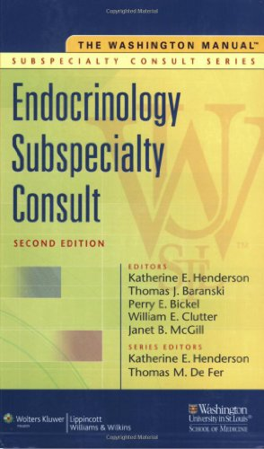 9780781791540: The Washington Manual Endocrinology Subspecialty Consult