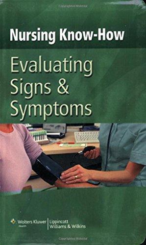 9780781792059: Evaluating Signs & Symptoms (Nursing Know-How)