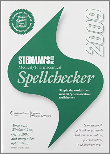 9780781792158: Stedman's Plus Medical/Pharmaceutical Spellchecker, 2009