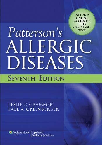 9780781794251: Patterson's Allergic Diseases (Allergic Diseases: Diagnosis & Management)