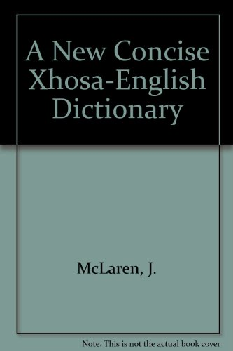 9780781802512: A New Concise Xhosa-English Dictionary