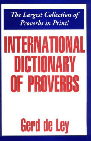 9780781805315: International Dictionary of Proverbs