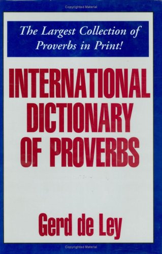 9780781806206: International Dictionary of Proverbs