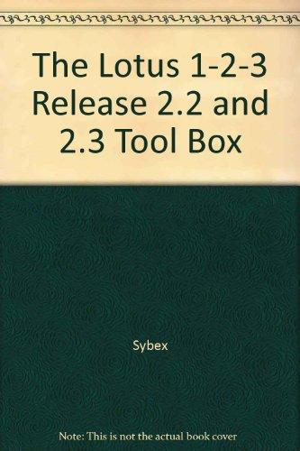 The Lotus 1-2-3 2.2 and 2.3 Toolbox/2 Books and Keyboard Template Set: Sybex