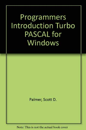 9780782110227: Programmer's Introduction to Turbo Pascal for Windows