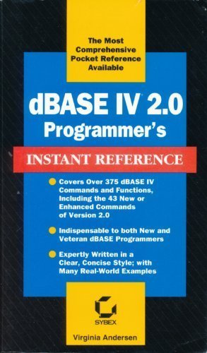 9780782111767: dBASE IV 2.0 Programmer's Instant Reference (Sybex Instant Reference)