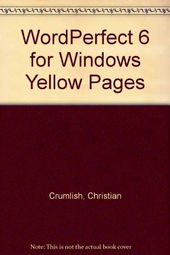 Wordperfect 6 for Windows Roadmap: Christian Crumlish