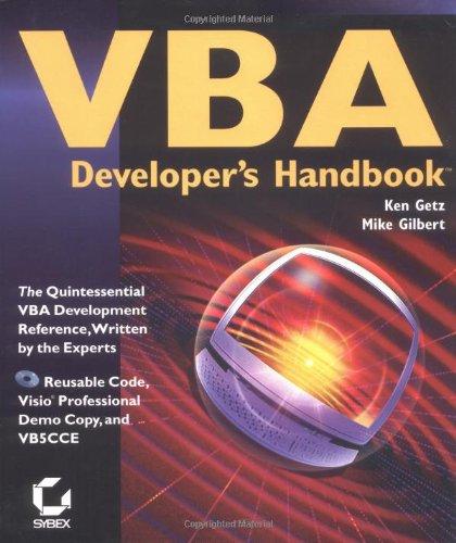 9780782119510: VBA DEVELOPER'S HANDBOOK