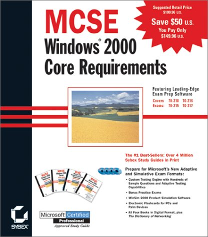 9780782127638: MCSE Windows 2000 Core Requirements (4-Volume Boxed Set With CD-ROMs)