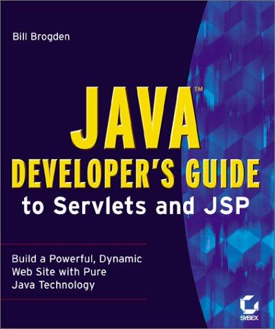 9780782128093: Java Developer's Guide to Servlets and Jsp
