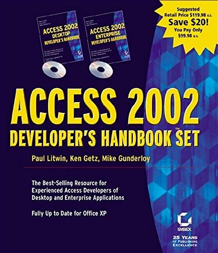 9780782140118: Access 2002 Developer's Handbook Set