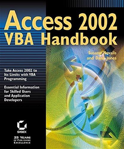 9780782140132: Access 2002 VBA Handbook