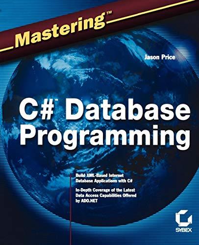 9780782141832: Mastering C# Database Programming