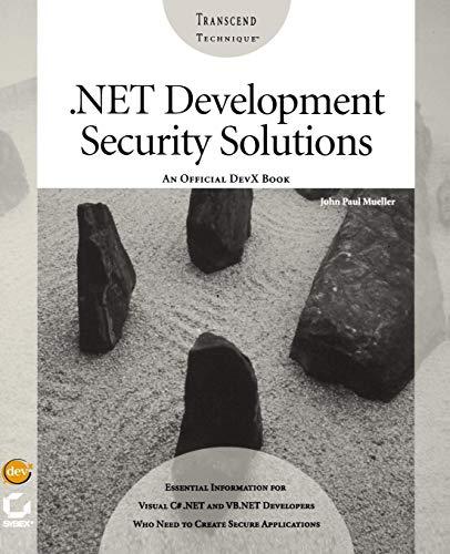 NET Development Security Solutions: Mueller, John Paul