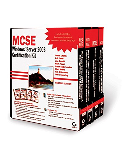 9780782144536: MCSE: Windows Server 2003 Certification Kit (70-290, 70-291, 70-293, 70-294)