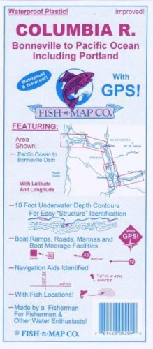 9780783433219: Lower Columbia River Fishing Map, From Bonneville to Pacific Ocean