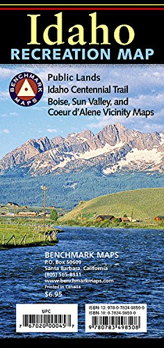 9780783498508: Idaho Recreation Map (Benchmark Maps: Idaho)