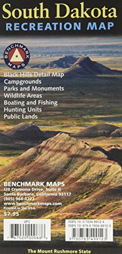 9780783499123: South Dakota Recreation Map