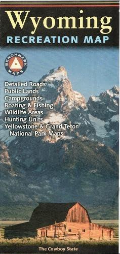9780783499215: Wyoming Recreation Map