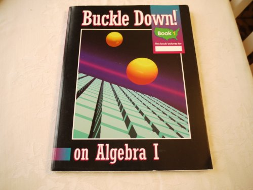 Buckle down publishing abebooks buckle down on algebra 1 buckle down publishing fandeluxe Image collections