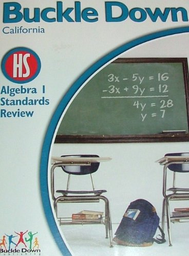 9780783651613: BUCKLE DOWN California HS Algebra 1 Standards Review
