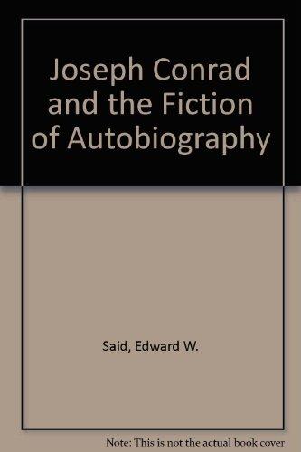 9780783723280: Joseph Conrad and the Fiction of Autobiography