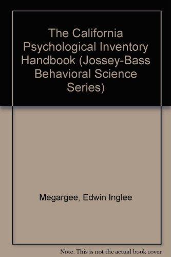 9780783725031: The California Psychological Inventory Handbook (Jossey-Bass Behavioral Science Series)