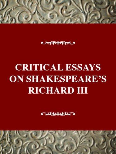 9780783804491: Critical Essays on Shakespeare's Richard III (Critical Essays on British Literature Series)