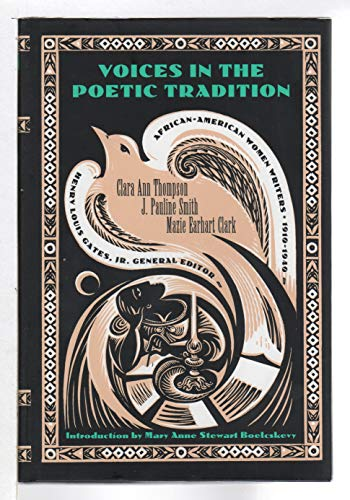 9780783814308: Voices in the Poetic Tradition (African-American Women Writers, 1910-1940)