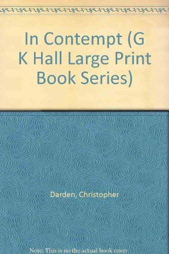 9780783818580: In Contempt (G K Hall Large Print Book Series)