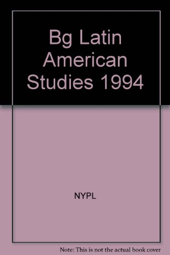 Bibliographic Guide to Latin American Studies, 1994 Vol. 1
