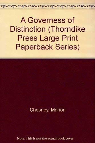 9780783885193: A Governess of Distinction (Thorndike Press Large Print Paperback Series)