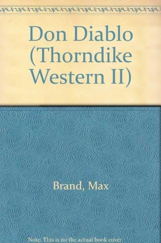 9780783889481: Don Diablo (Thorndike Western II)